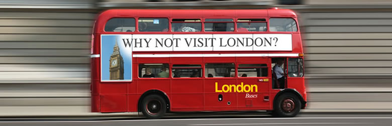 555 English School・Double Decker Bus - London, England.